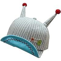 QinTian 帽子 子供用帽子 ベビー CAP キャップ ストライプ 可愛い サイズ調節可 日除け帽子 女の子 男の子 日焼け防止 おしゃれ 紫外線対策 春夏 旅行 赤ちゃん コットン (レッド)