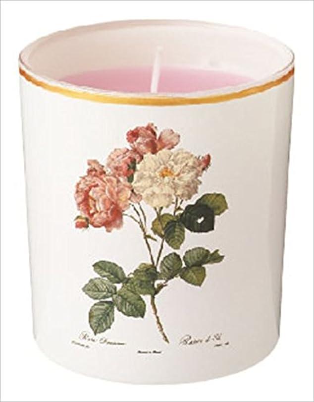 正当なテクスチャースマイルカメヤマキャンドル(kameyama candle) ルドゥーテ グラスキャンドル 「 クラシックローズ 」
