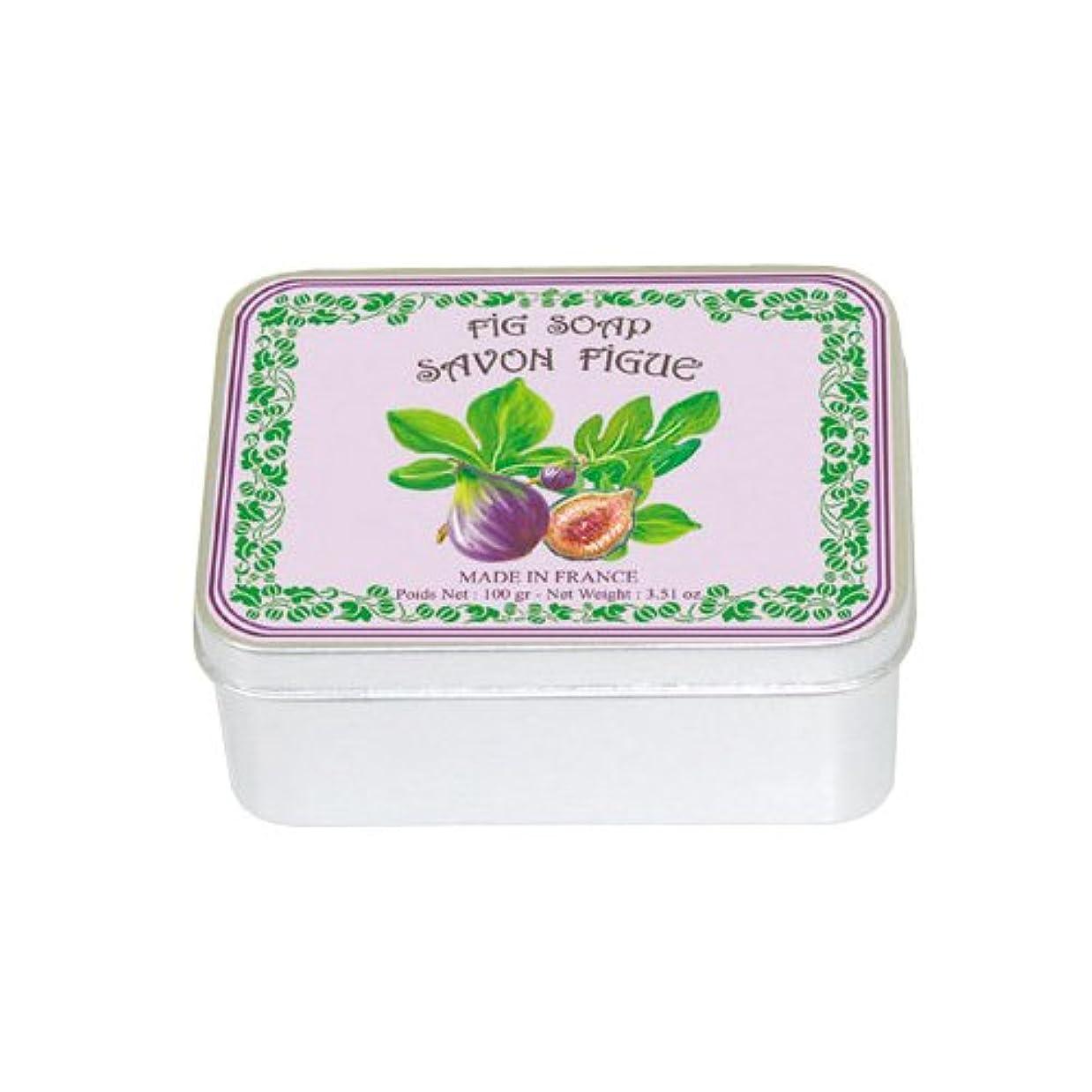 バング手入れ受信機ルブランソープ メタルボックス(イチジクの香り)石鹸