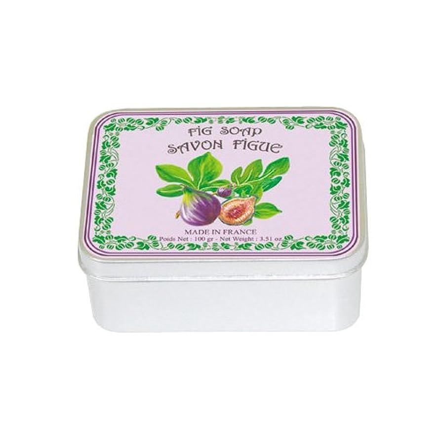 ゆり先のことを考える和らげるルブランソープ メタルボックス(イチジクの香り)石鹸