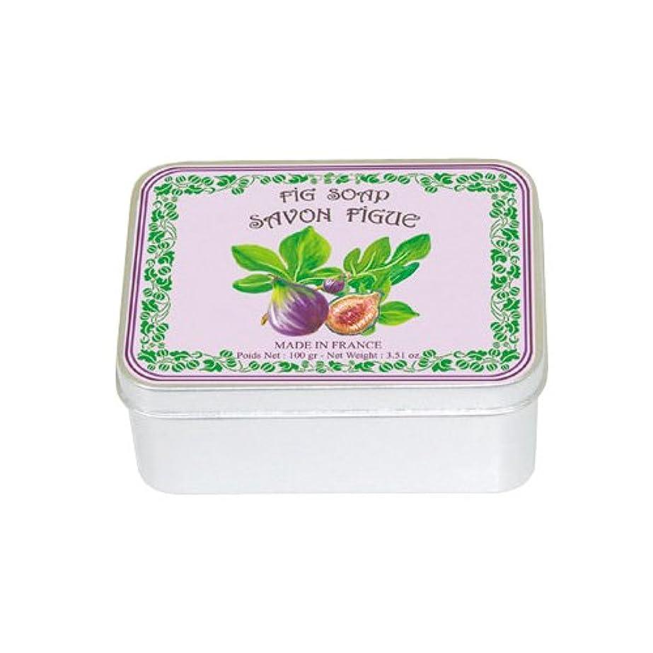 制限全体旋律的ルブランソープ メタルボックス(イチジクの香り)石鹸