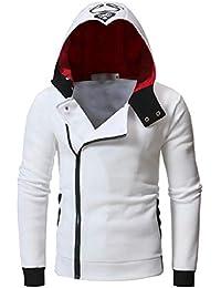 Sodossny-JP メンズ屋外カジュアルフル郵便番号フリースロングスリーブパーカースウェットシャツジャケット