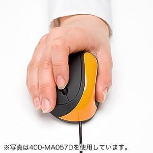 サンワダイレクト エルゴノミクスマウス 小型 腱鞘炎 対策 Windows Mac OS対応 ピンク 400-MA057P