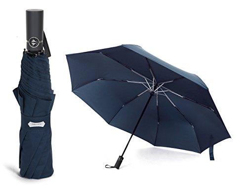 PARACHASE 折り畳み傘 自動開閉 大きい 傘 折りたたみ 超大型 耐風 ワンタッチ メンズ 撥水 グラスファイバー おしゃれ 8本骨 70cm 二人用可能 直径123cm 日本国内品質保証 (K4ネイビー)