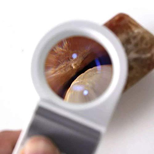 『8倍ハンドヘルド照明付き拡大鏡非球面レンズledホワイトライトレンズHd読書趣味ジュエリーマップ工芸品ジュエリー拡大鏡』の1枚目の画像