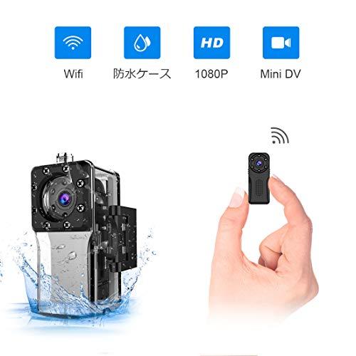 超小型防水Wifiスパイ防犯カメラ,ZZCP 高画質1080...
