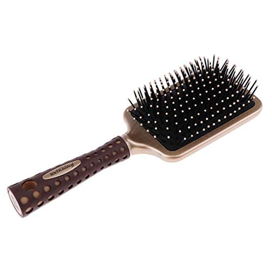 わずかに篭メタン静電防止櫛 クッションヘアブラシ 頭皮マッサージ プロ ヘアーサロン 美容師 2サイズ選べ - L