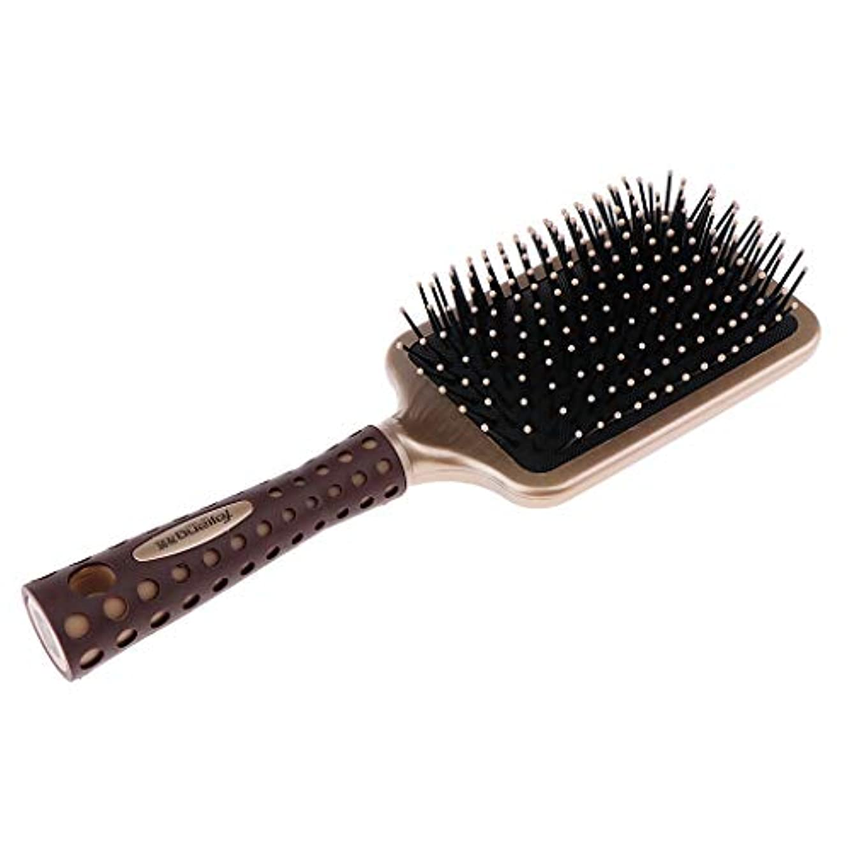 余暇自治的わかる静電防止櫛 クッションヘアブラシ 頭皮マッサージ プロ ヘアーサロン 美容師 2サイズ選べ - L