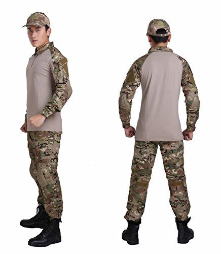 5点セット マルチカム G3 コンバット タイプ 迷彩服 フルセット (M(身長170cm前後推奨))
