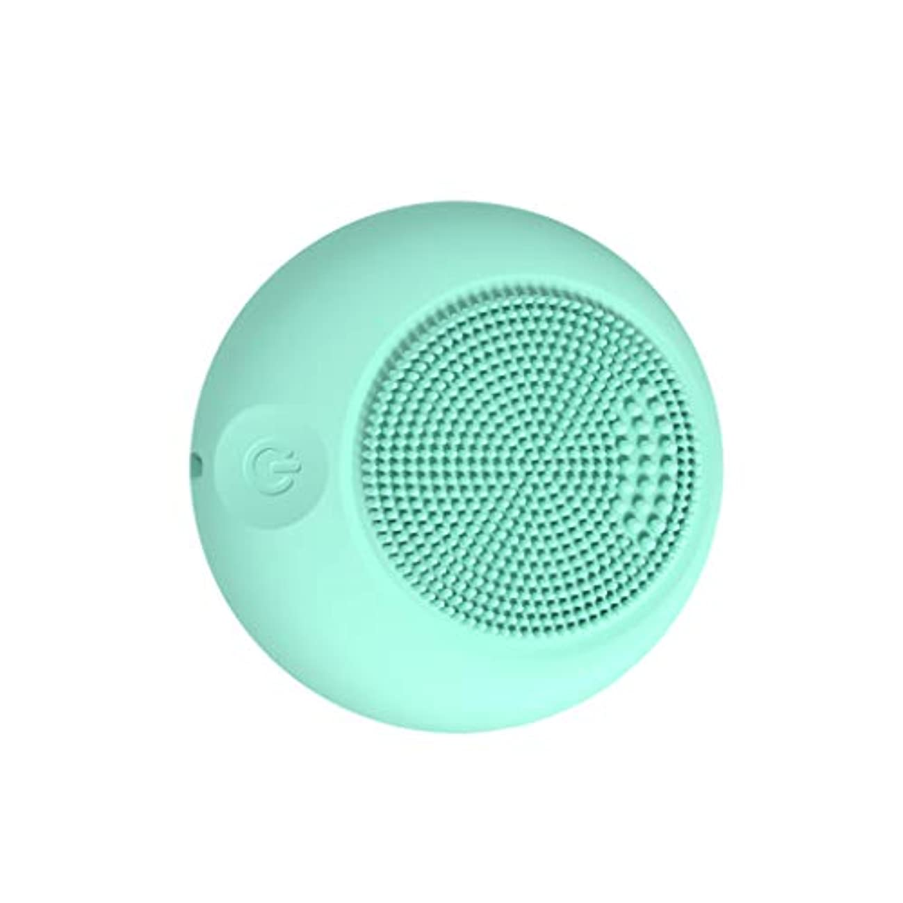 Qi フェイスクレンザーブラシ、デバイスシリコーンパッシブフェイスクリーナーポータブルポアダート除去ブラックヘッドのシンプルなスキンオイルコントロール GQ (色 : Sky blue)