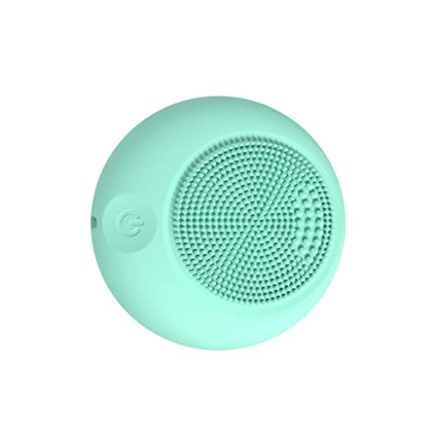 プロポーショナルモバイルシダQi フェイスクレンザーブラシ、デバイスシリコーンパッシブフェイスクリーナーポータブルポアダート除去ブラックヘッドのシンプルなスキンオイルコントロール GQ (色 : Sky blue)