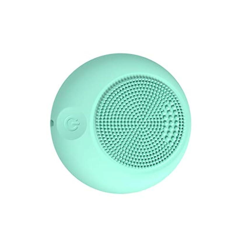 休眠バイナリ流行しているQi フェイスクレンザーブラシ、デバイスシリコーンパッシブフェイスクリーナーポータブルポアダート除去ブラックヘッドのシンプルなスキンオイルコントロール GQ (色 : Sky blue)