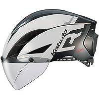 OGK KABUTO(オージーケーカブト) ヘルメット AERO-R1 ホワイトダークグレー L/XL (頭囲:59cm-61cm)