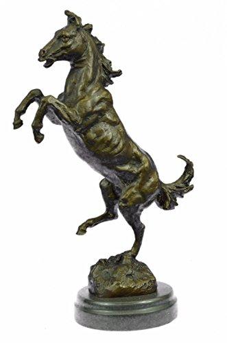 手作りのブロンズ彫刻像はミロ興奮飼育馬マーブルレーシング-JPyrd-391-インテリアグッズギフトを締結しましたリアルブロンズ