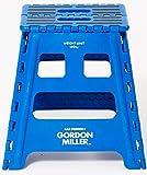 GORDON MILLER フォールディングステップ ガレージ 洗車 DIY H40×W39×D32(使用時) 踏み台 折りたたみ 耐荷重150㎏ ブルー 1494260