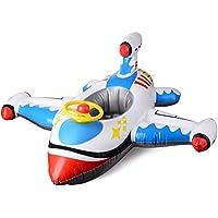 moiitee 浮き輪 飛行機の形 水遊び用 かわいい 110cm 海水浴/プール/キャンプ 強い浮力 おしゃれ BB型ポンプ付き