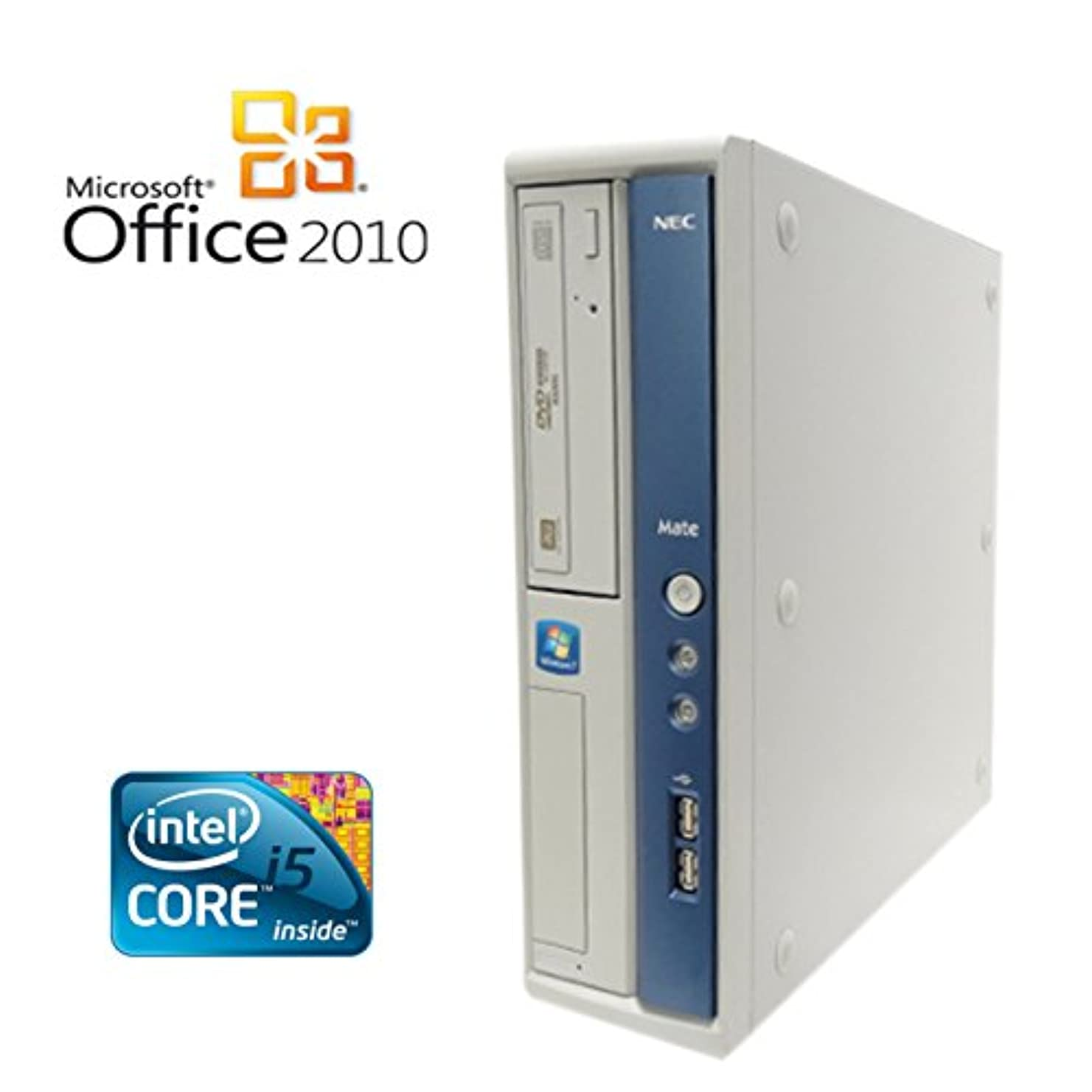 山岳冊子騒乱【Microsoft Office2010搭載】【Win 7搭載】NEC Express 5800 51Lg/新世代Core i5 3.2GHz/メモリ4GB/HDD160GB/DVDスーパーマルチ/中古デスクトップパソコン (パソコン本体のみ)