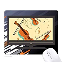 ヴァイオリン音楽楽器のパターン ノンスリップラバーマウスパッドはコンピュータゲームのオフィス