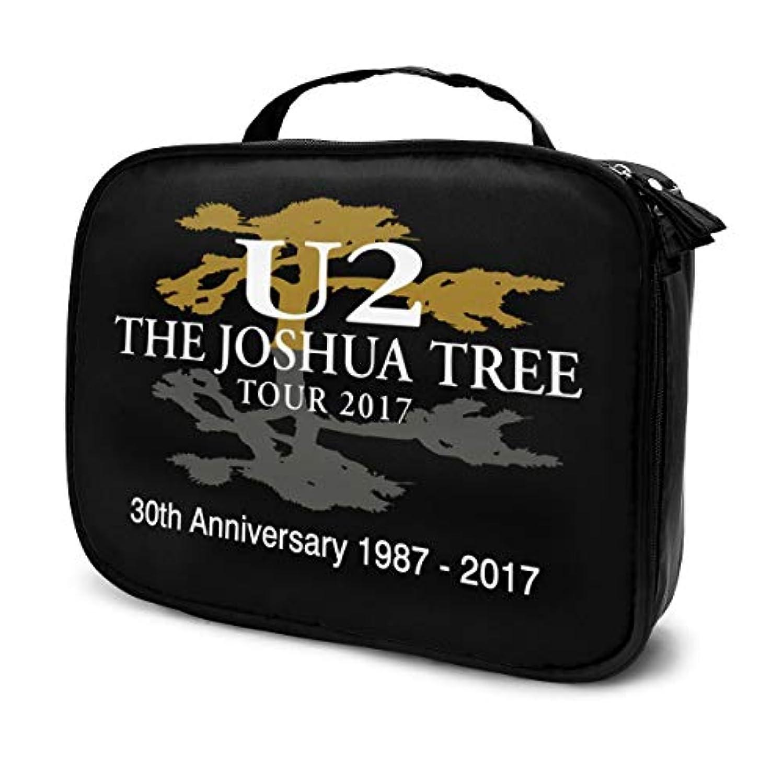 喪品物理U2 The Joshua Tree 化粧ポーチ 化粧ケース メイクアップケース コスメポーチ メイクポーチ 機能的 大容量 乾式/湿式分離 吊り下げ 防水 収納力抜群 海外旅行 出張 軽量 アイシャドー ブラシ 洗面用具入れ 普段使い 持ち運び おしゃれ メンズ レディース 男女兼用
