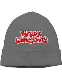 ニット帽 クリスマス Xmas Christmas ニット 帽子 男女兼用 薄手 通気性 6色展開 フリーサイズ One Size グレー