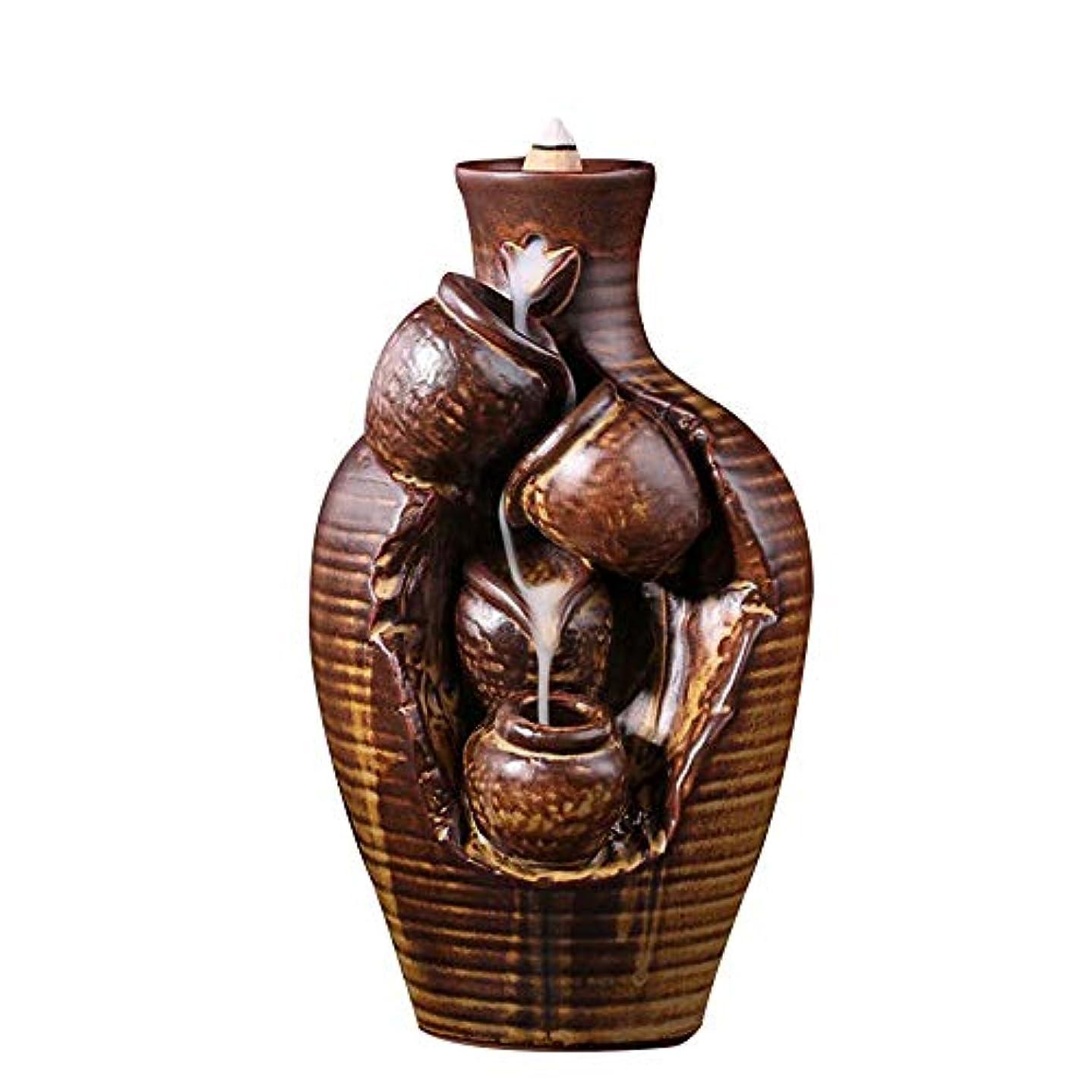 帝国主義句原油YYW ウォーターフォール インセンスセンサー 逆流香炉 セラミック 香炉 コーン 10個 お香 コーン ホームデコレーション用