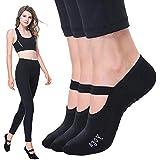 Non Slip Barre Socks Grip Yoga Socks Anti-Skid Pilates Socks Pack 3 Pairs Ballet Sticky Socks