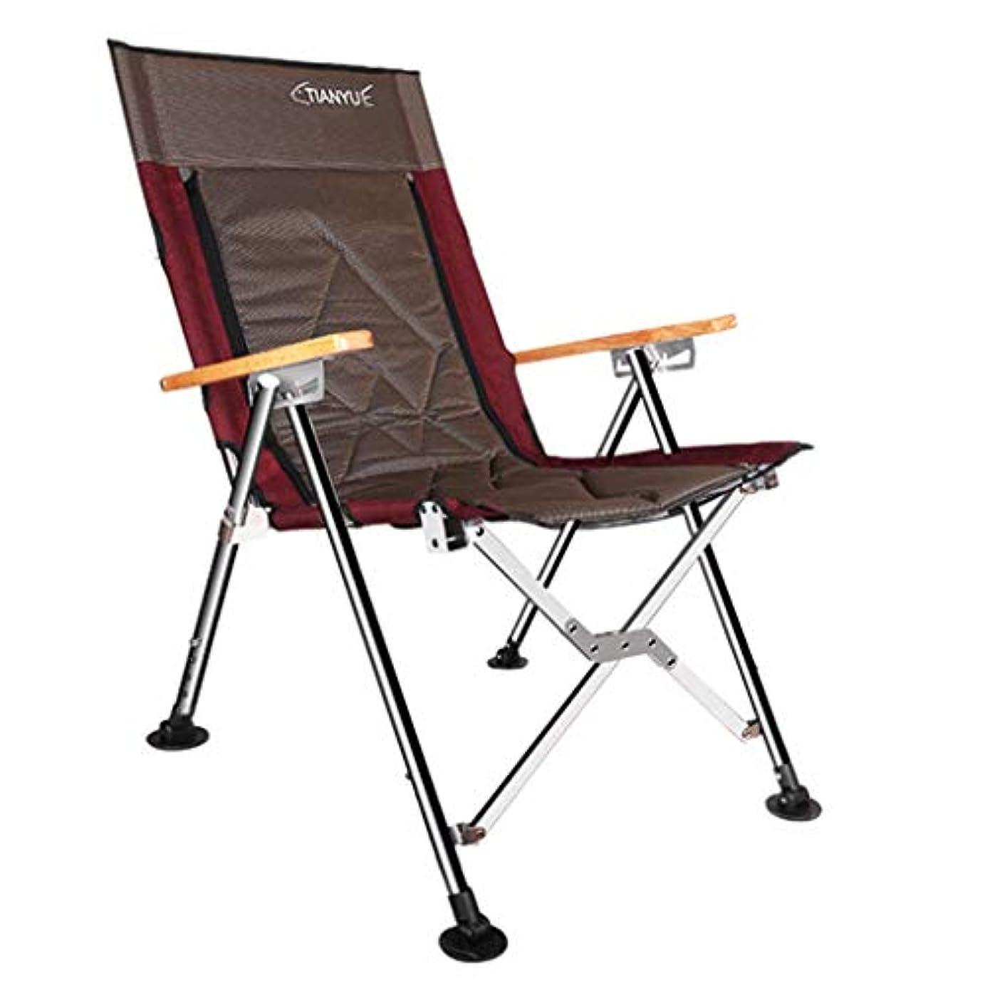 狼未知の喉頭折りたたみポータブル釣り椅子、しゃがむラウンジチェア、アウトドアレジャーキャンプビーチチェア、釣りタックル、56×70×103センチ