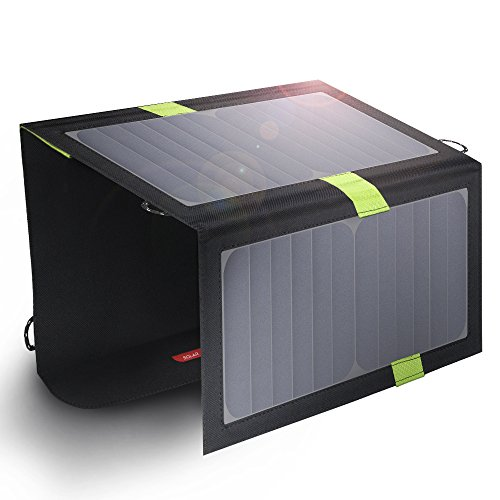 ソーラーチャージャー X-DRAGON 20W ソーラーパネル 折りたたみ (2USB出力+SunPower 22%-25%+SolarIQ急速充電) 防災用 iPhone ipad iPod Android スマホ タブレット モバイルバッテリー usb充電器 ソーラー充電器