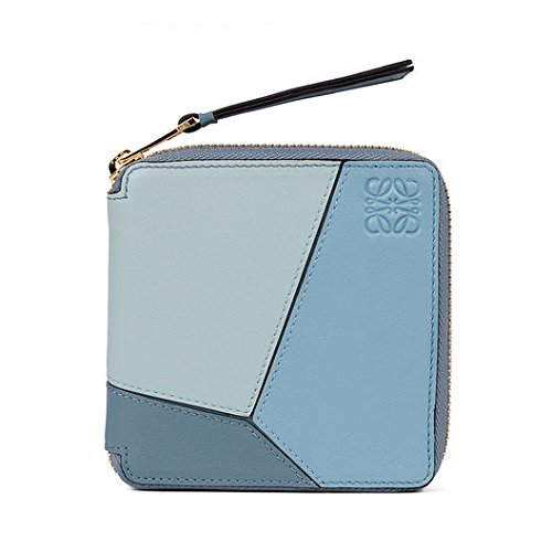 LOEWE(ロエベ) Puzzle Small Wallet soft 短財布[並行輸入品] (blue)