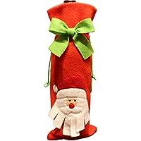 XYGJP クリスマス ワインボトルカバー サンタクロース ワイン袋 巾着袋 プレゼント袋 シャンパン袋 雪だるま ヘラジカ ラッピング グッズ サンタクロース袋 お祝い パーディー