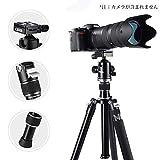 【改良版】Tycka プロ級 4段 167cm アルミ合金三脚 一脚可変式 12kg耐荷重 360パノラマボールヘッド 1/4回転クイックロック Canon Sony Nikon DSLRカメラ対応
