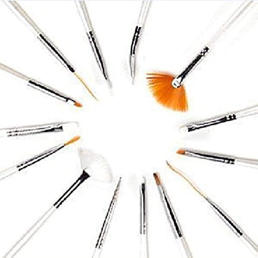 Hommy 15ピース UVジェルデザインペイント ペン ネイルアート ブラシ セット サロン用 マニキュア DIY 道具