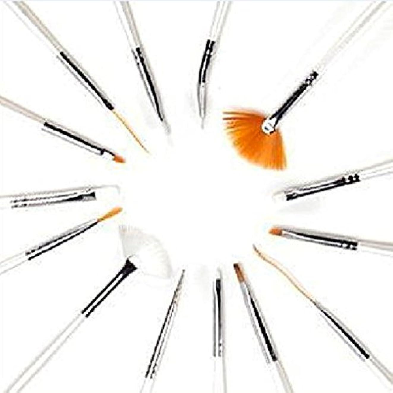 毎日オンス勇気Hommy 15ピース UVジェルデザインペイント ペン ネイルアート ブラシ セット サロン用 マニキュア DIY 道具