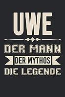 Uwe Der Mann Der Mythos Die Legende: Din A5 Kariertes Heft (Kariert) Mit Karos Fuer Uwe | Notizbuch Tagebuch Planer Fuer Jeden Mit Dem Vorname Uwi | Notiz Buch Geschenk Journal Uwe Name & Spitzname Notebook