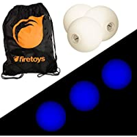 Glow Juggling Ball Set - 3x Blue LED Juggling Balls & Firetoys Bag [並行輸入品]