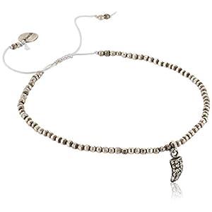 [チャンルー] CHAN LUU 公式 ダイヤ付き ブレスレット BSF-4706 ANTQ SILVER 0125611003-1000-00