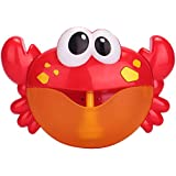 Baby Bath Bubble Toy, Apartner Bubble Crab Toys with 24 Pure Music, Automatic Bubble Blower Machine for Toddlers Shower Cute Bubble Spout Maker Toy for Kids of All Ages, Gift Box Package