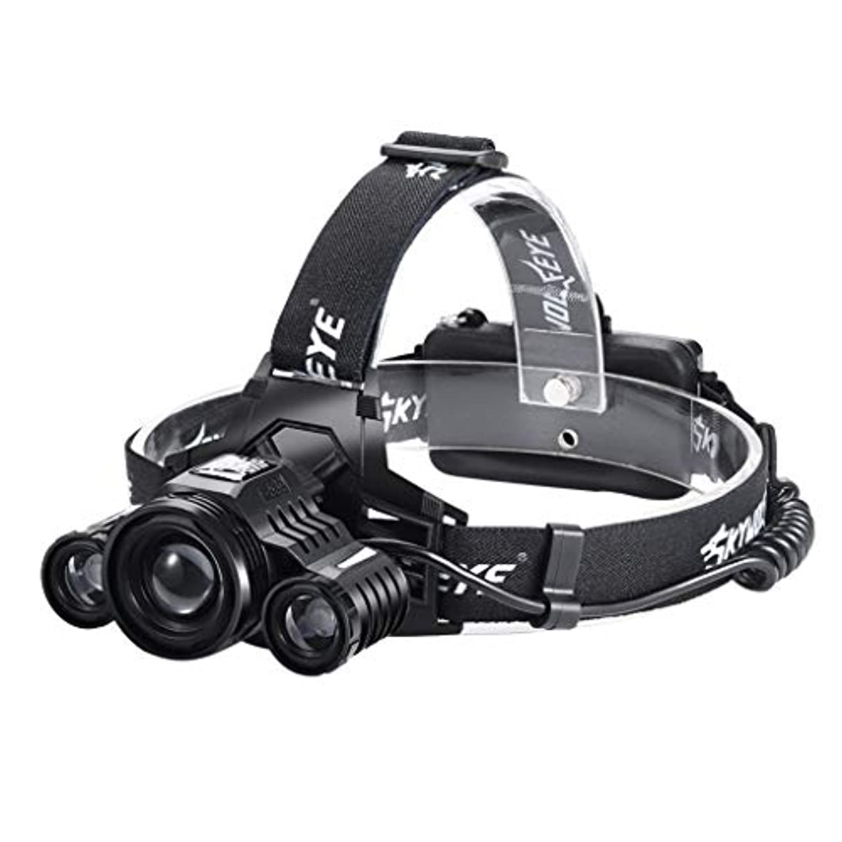 学部調整ログ2X XPE T6 LEDヘッドランプ 可充電式 ヘッドライト TangQI 高輝度 調節可能な焦点距離 防水機能 18650バッテリー 角度調節可能 5点灯モード 作業 夜釣り キャンプ 登山 アウトドア活動に適用