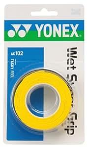 ヨネックス(YONEX) ウェットスーパーグリップ(3本入) イエロー AC102 004