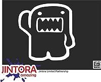 JINTORA ステッカー/カーステッカー - Front dome kun - フロントドームくん - 98x99 mm - JDM/Die cut - 車/ウィンドウ/ラップトップ/ウィンドウ - 白
