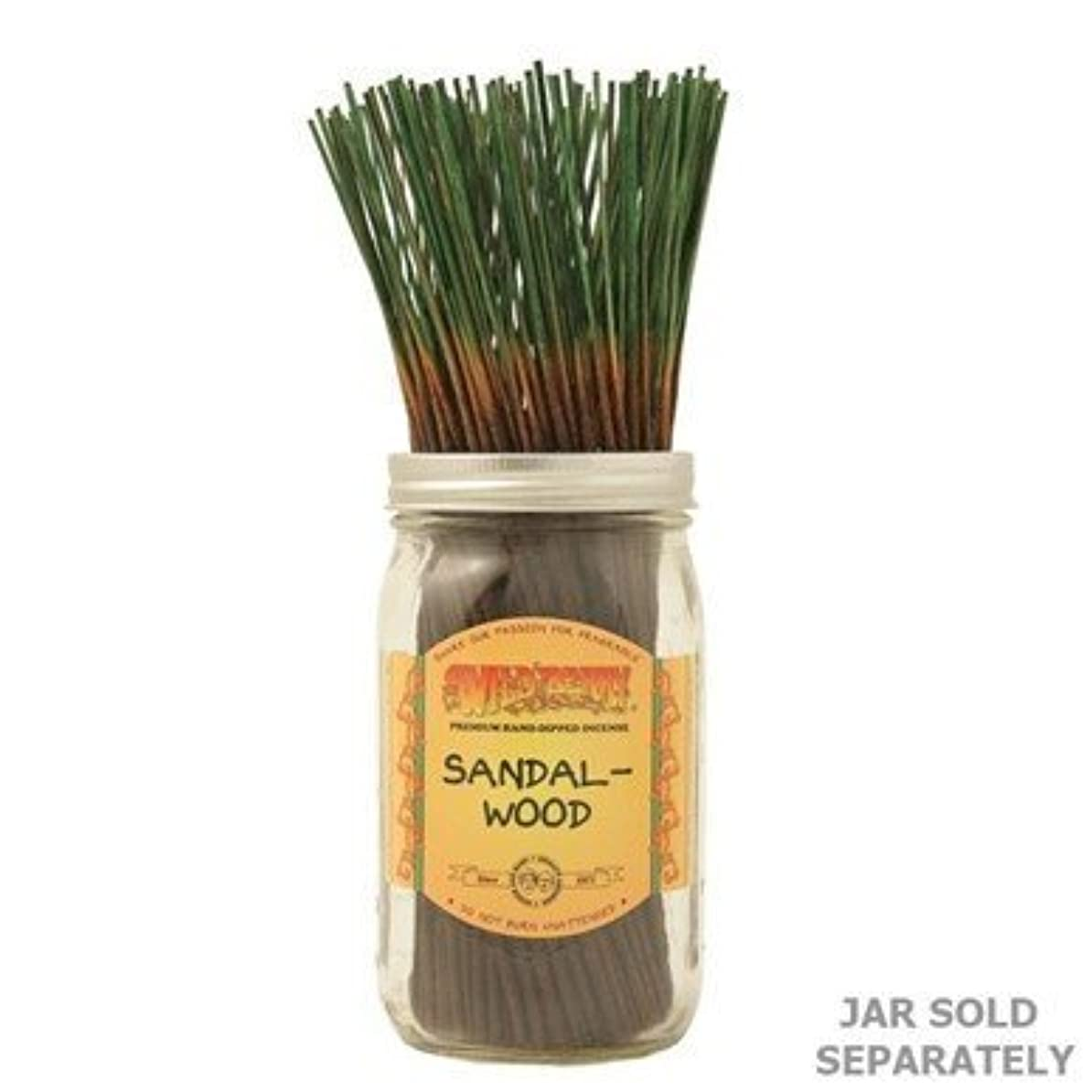 砦無許可忠実なSandalwood - 100 Wildberry Incense Sticks [並行輸入品]