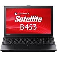 東芝 PB453MNBQR7AA71 dynabook Satellite Windows7Pro 32/64bit Celeron 1.9GHz 2GB 500GB DVDスーパーマルチ 無線LAN IEEE802.11a/gb/g/n Bluetooth 10キー付キーボード 15.6型液晶ノートパソコン(光沢なし)