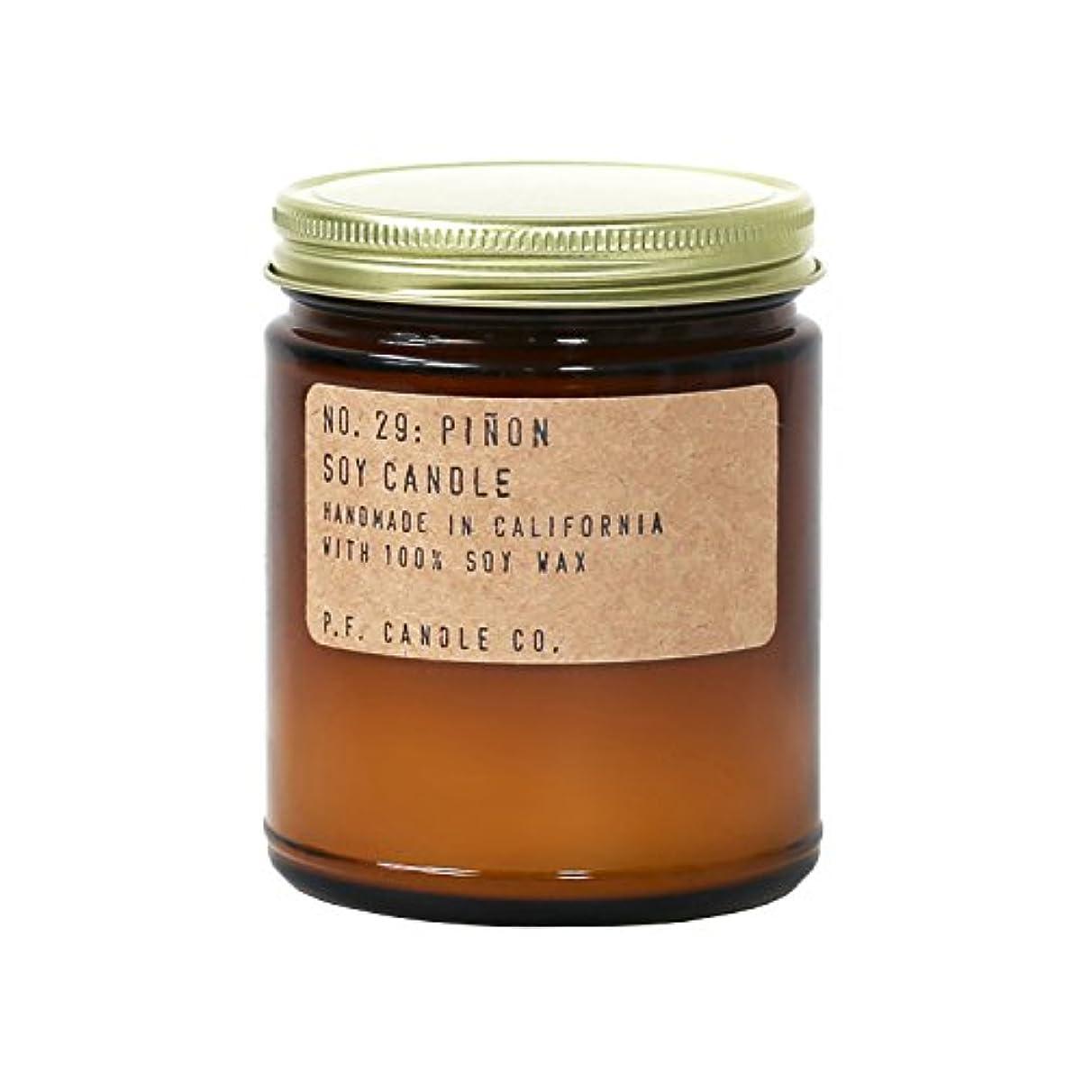 事実安息リムp.f. Candle Co。 – No。29 : Piñon Soy Candle 7.2 oz