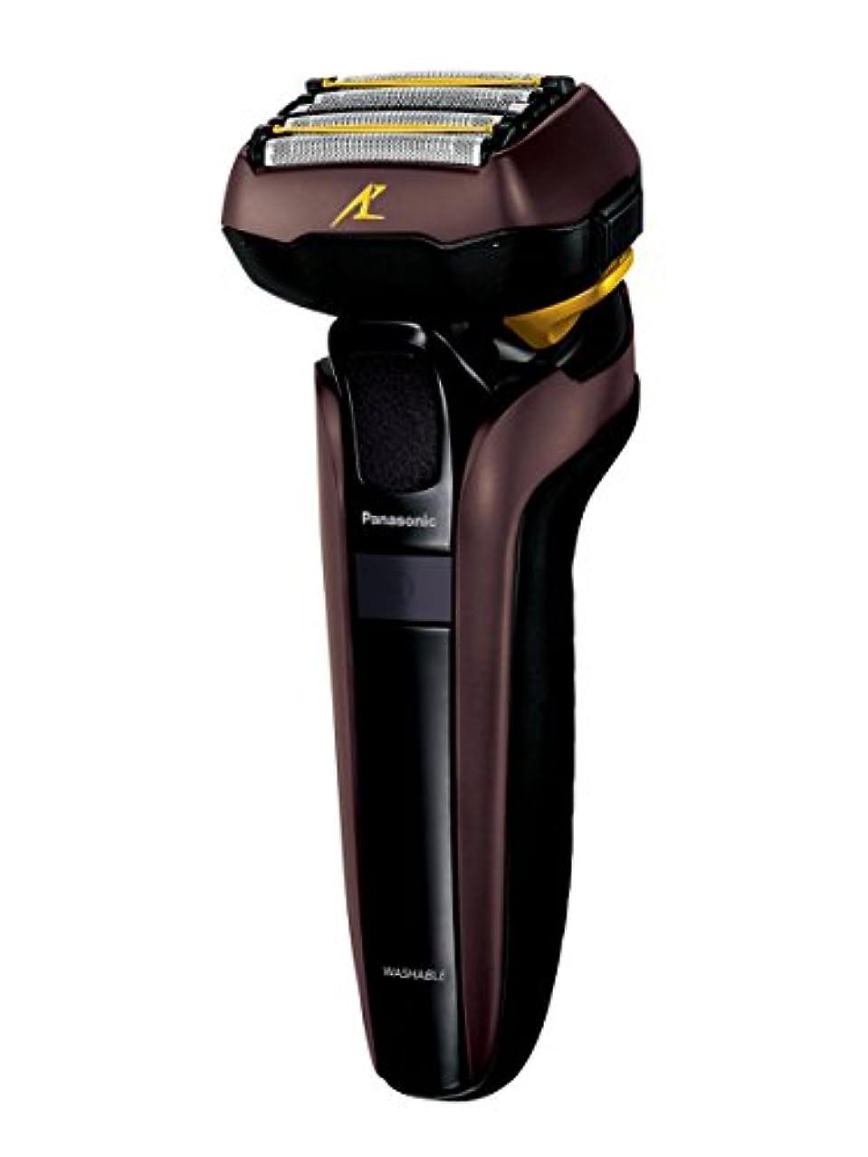 保守可能に対応実装するパナソニック ラムダッシュ メンズシェーバー 5枚刃 茶 ES-LV7D-T