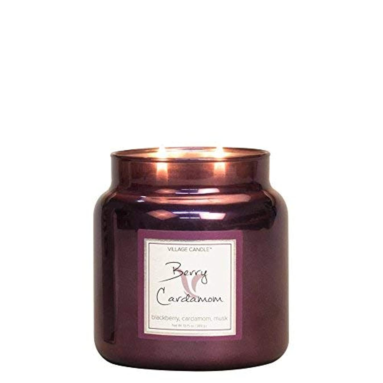 一般的に言えば好ましいメロディアスVillage Candle Berry Cardamom 16 oz Metallic Jar Scented Candle Medium [並行輸入品]