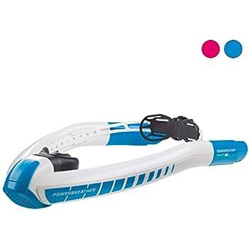 パワーブリーザーSPORT高性能シュノーケル | レクリエーションとして水泳を楽しまれる人と競泳選手のためのユニークなスイムシュノーケル | トライアスロンのトレーニング、オープンウォータースイミング、ラップスイミング、シュノーケリングに最適
