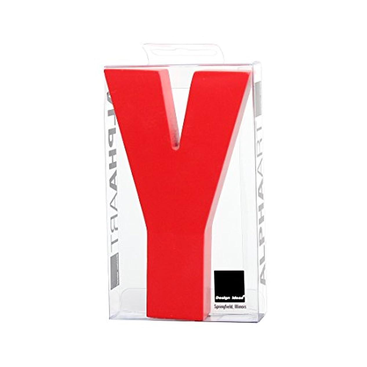 価値大事にする研磨カメヤマキャンドルハウス アルファベットブロック カラフル  アルファアートスモールy 「 レッド 」