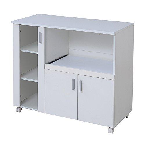 おしゃれでシンプルな白い キッチンカウンター 幅90
