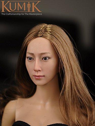 【KUMIK】1/6 フィギュア 用 アクセサリー 美人・アジア・女性→【頭/ヘッド パーツ】 [KM16-14] ガール 塗装済 アクションフィギュア 素体用