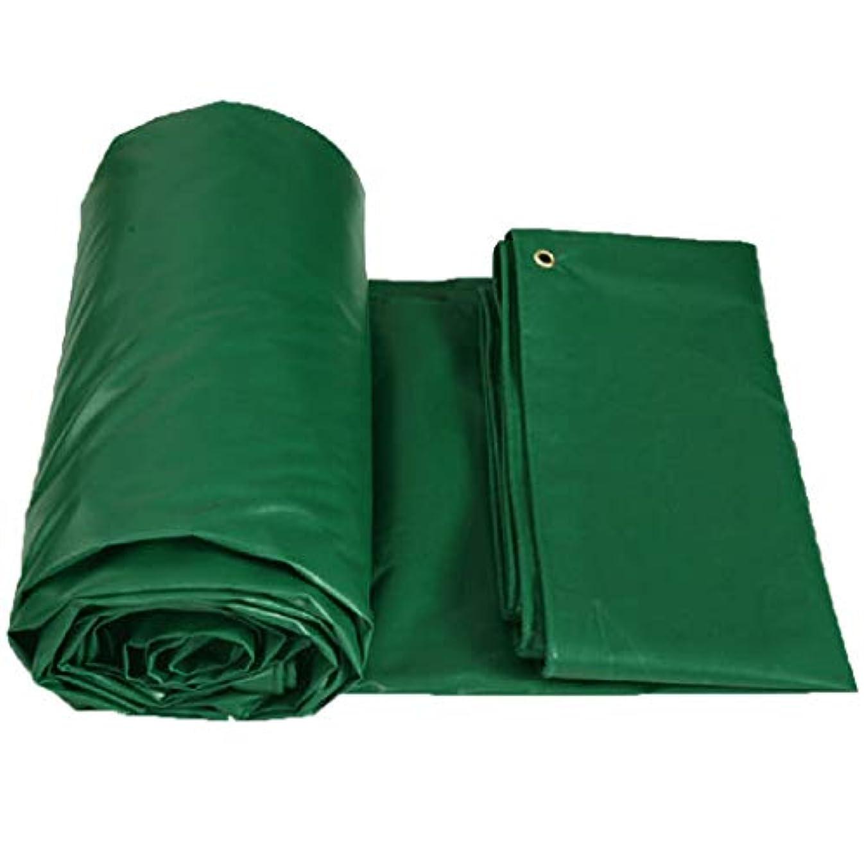 兄弟愛素晴らしきアレイターポリン 緑 0.4mm 厚い PVC 防水 耐候性 UV耐性 柔らかい 防腐剤 絶縁 アウトドア タープ グランドシートカバー 450g / M2